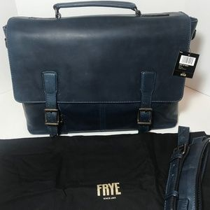 FRYE Mens Logan Top Handle Navy Messenger bag BNWT